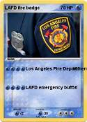 LAFD fire badge