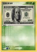 $100.00 bill