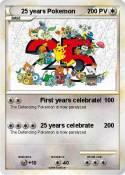 25 years Pokemo