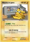 Pikachu on game
