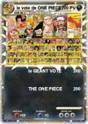 le vote de ONE