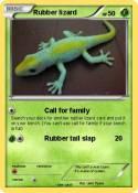Rubber lizard