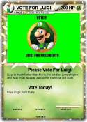VOTE FOR LUIGI