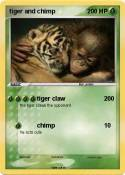 tiger and chimp