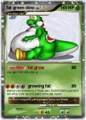 fat green dino