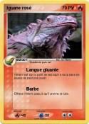 Iguane rosé