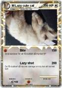 M Lazy cute cat