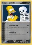 homer squelette