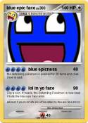 blue epic face