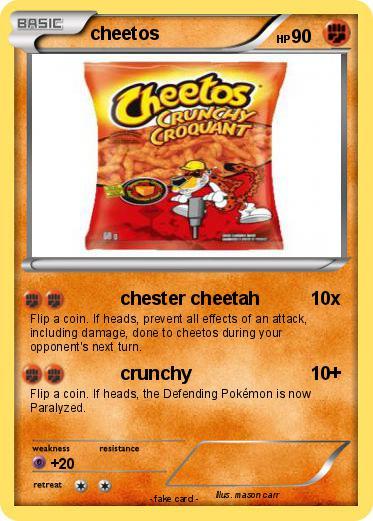 Pokémon Cheetos 16 16 Chester Cheetah My Pokemon Card