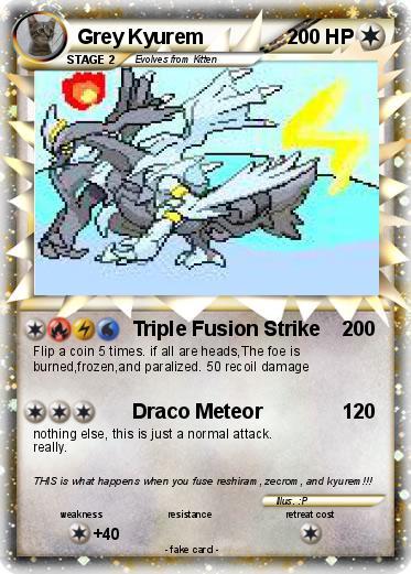pokémon grey kyurem 4 4 triple fusion strike my pokemon card