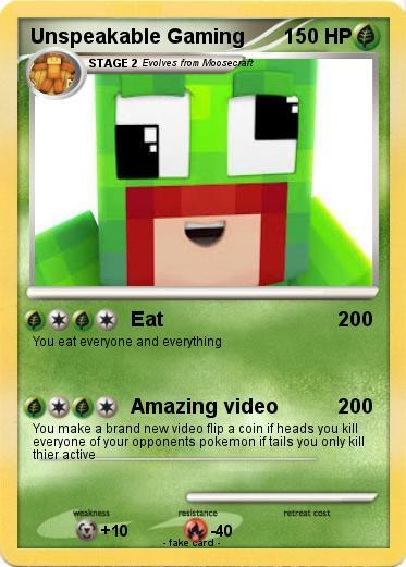 Pok 233 Mon Unspeakable Gaming 2 2 Eat My Pokemon Card