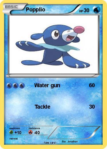 Pokmon Popplio 7 Water Gun My Pokemon Card