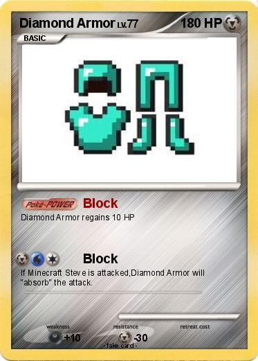 Pok 233 Mon Diamond Armor Block My Pokemon Card