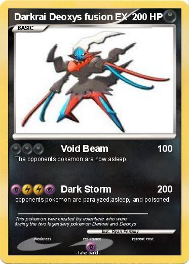 Pok 233 Mon Darkrai Deoxys Fusion Ex 1 1 Void Beam My