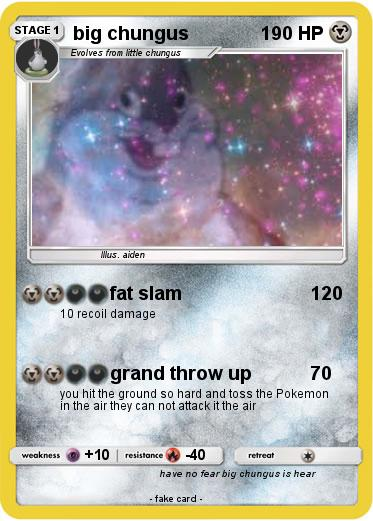 Pokemon Big Chungus 37 37 Fat Slam My Pokemon Card