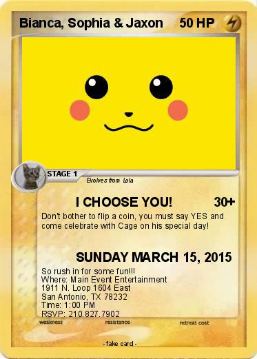 pok233mon bianca sophia jaxon i choose you my pokemon card