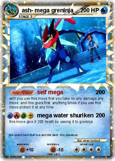 Pok 233 Mon Ash Mega Greninja Self Mega My Pokemon Card