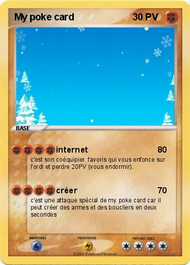 Favori Pokémon My poke card - internet - Ma carte Pokémon NA57