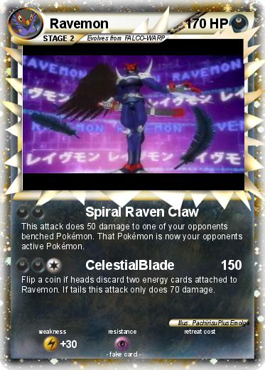 Pokémon Ravemon 4 4 - Spiral Raven Claw - My Pokemon Card