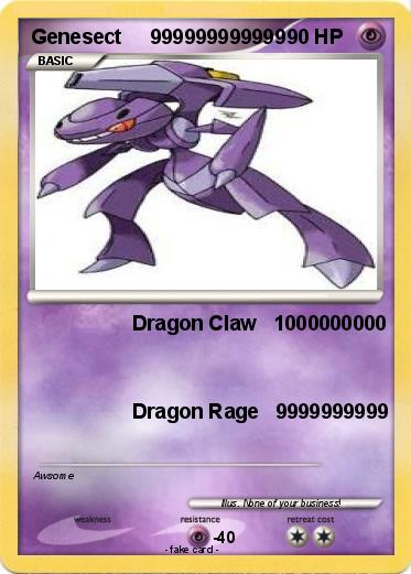 Pok 233 Mon Genesect 999999999999 999999999999 Dragon Claw