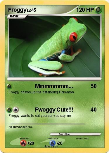 pokémon froggy 25 25 mmmmmmm my pokemon card