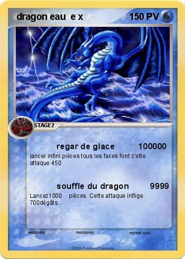 Pok mon dragon feu e x regar de glace 100000 ma carte pok mon - Carte pokemon dragon ...