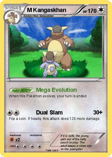 Mega evolution kangaskhan card