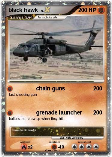 Pokémon black hawk 18 18 - chain guns - My Pokemon Card