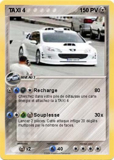 Pokémon TAXI 4 4 - Recharge - Ma carte Pokémon