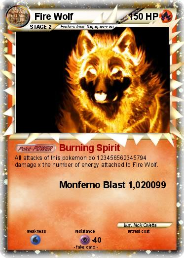 Pokémon Fire Wolf 26 26 Burning Spirit My Pokemon Card