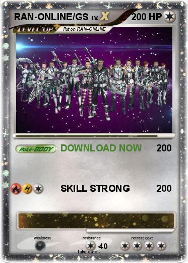 Pokémon RAN ONLINE GS - DOWNLOAD NOW - My Pokemon Card