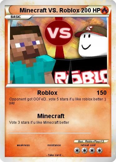 Pokémon Minecraft VS Roblox 1 1 - Roblox - My Pokemon Card