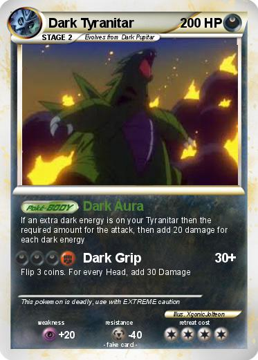 Pokémon Dark Tyranitar 68 68 - Dark Aura - My Pokemon Card