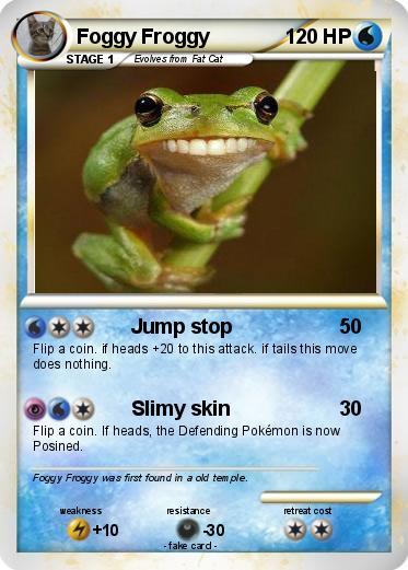 pokémon foggy froggy jump stop my pokemon card