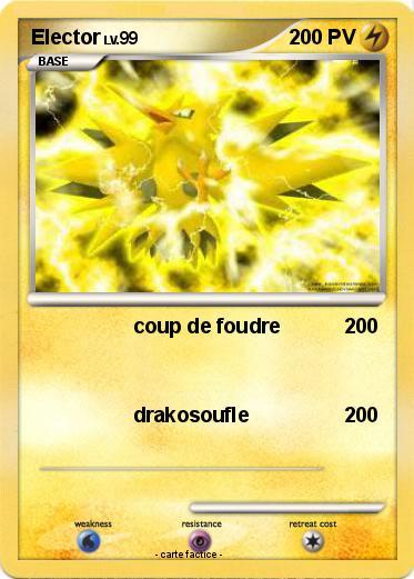 Pok mon elector 268 268 coup de foudre ma carte pok mon - Elector pokemon x ...