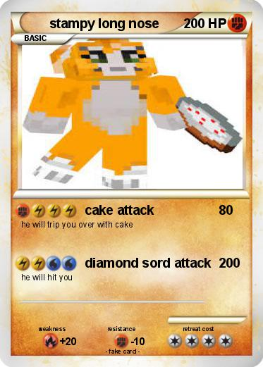Pokmon stampy long nose cake attack My Pokemon Card