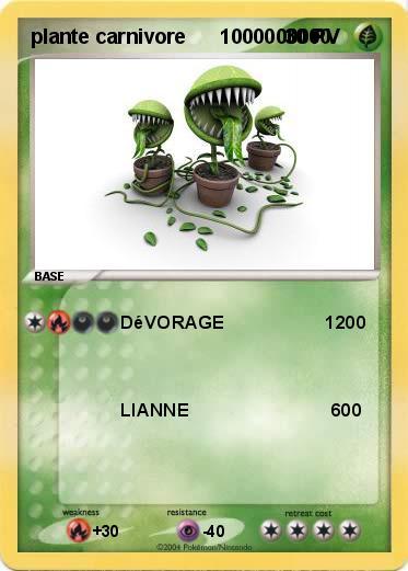 pok mon plante carnivore 1000000000 1000000000 d vorage 1200 ma carte pok mon. Black Bedroom Furniture Sets. Home Design Ideas