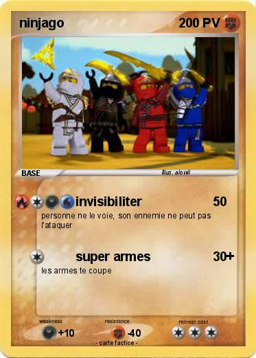 Pok mon ninjago 209 209 invisibiliter ma carte pok mon - Carte ninjago ...