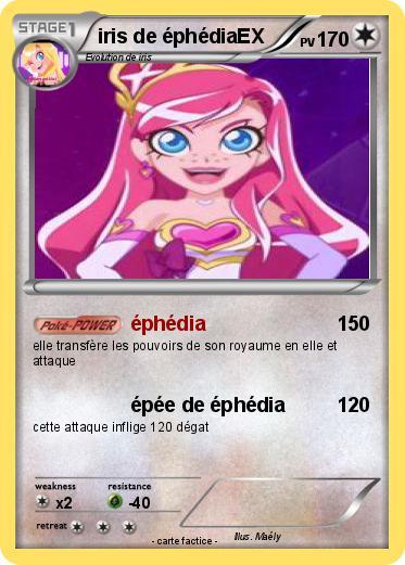 Pok mon iris de ephediaex 1 1 ph dia ma carte pok mon - Carte pokemon fee ...