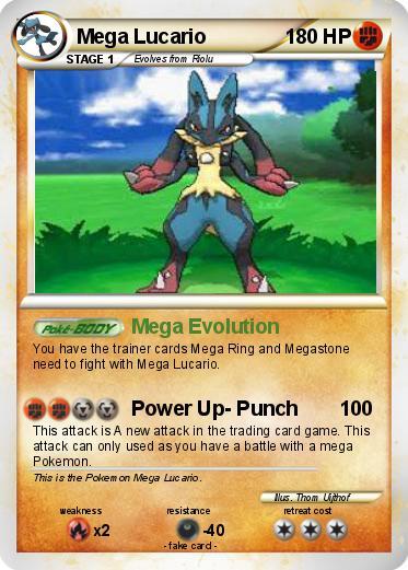 Pok 233 Mon Mega Lucario 78 78 Mega Evolution My Pokemon Card