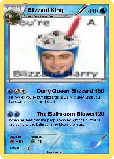 Pokémon Blizzard King - Dairy Queen Blizzard - My Pokemon Card