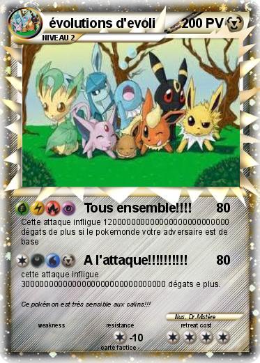 Pok mon evolutions d evoli tous ensemble ma carte - Pokemon noir 2 evoli ...