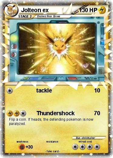 Pokémon Jolteon ex 6 6 - tackle - My Pokemon Card