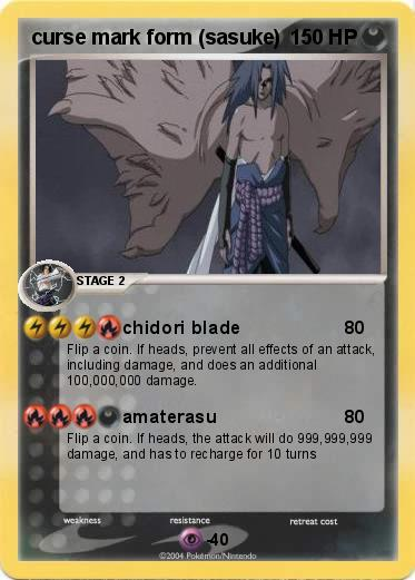 Pokémon curse mark form sasuke - chidori blade - My ...