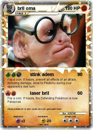 Pok 233 Mon Bril Oma Stink Adem My Pokemon Card