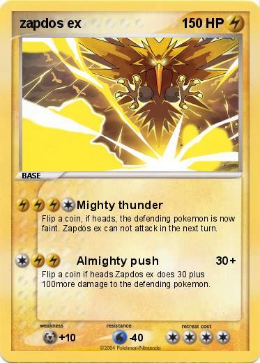 Pokémon zapdos ex 13 13 - Mighty thunder - My Pokemon Card
