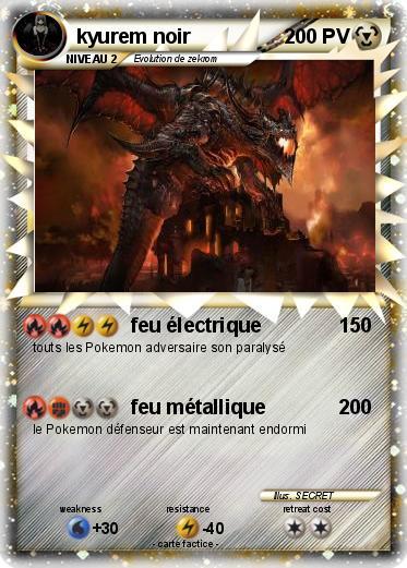 Pok mon kyurem noir 298 298 feu lectrique ma carte - Pierre feu pokemon noir ...