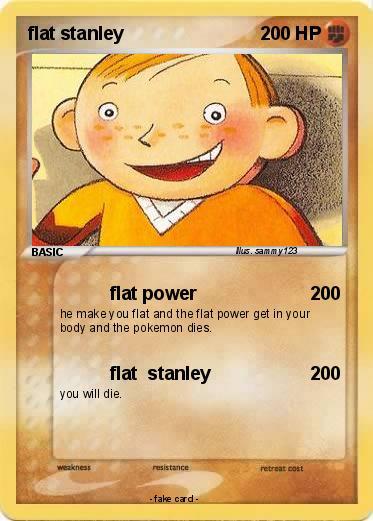 Pok 233 Mon Flat Stanley 10 10 Flat Power My Pokemon Card