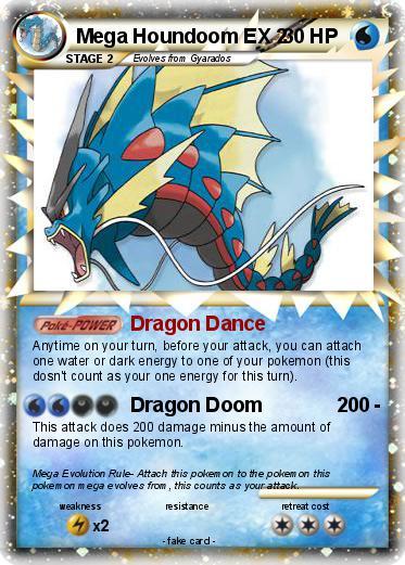Pokemon Mega Evolution Houndoom Card